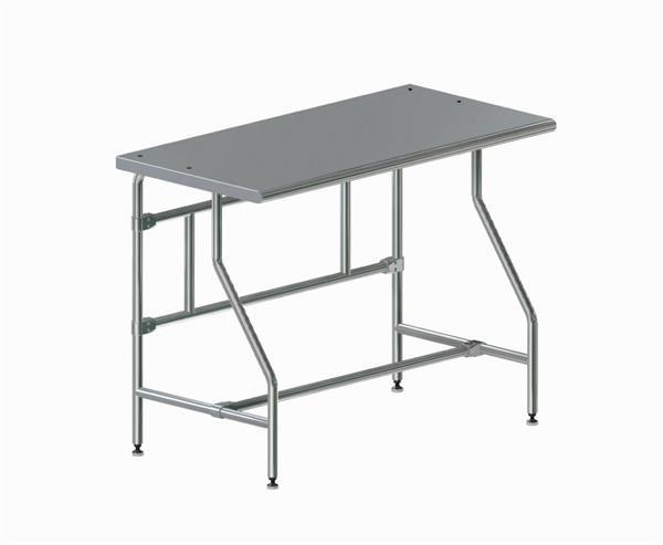 Cleanroom Ergo Table - Solid Top