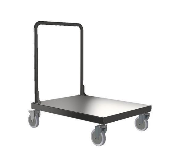Cleanroom Stainless Steel Barrel Cart