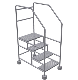 Cleanroom 4 Step Ladder