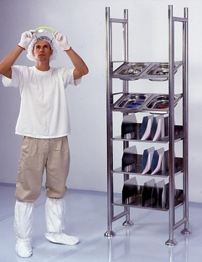 Cleanroom Tray & Shelf Unit