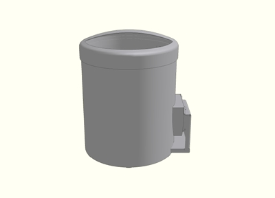 Waste Receptacle - Wall Mount