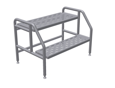 Cleanroom non-mobile Step Stools