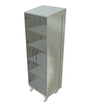 Cleanroom Cabinet - Glass Doors